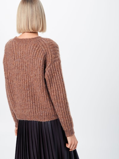 ONLY Pull-over 'CHUNKY L/S PULLOVER KNT' en marron: Vue de dos