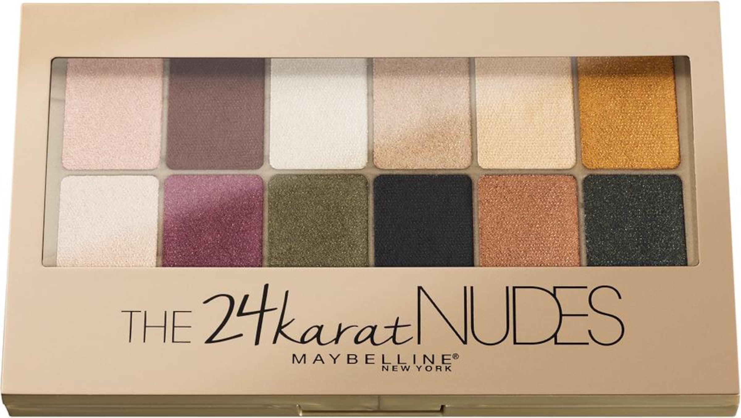 Nudes Palette'Lidschatten New Karat Maybelline York 'the In Mischfarben f67bgy