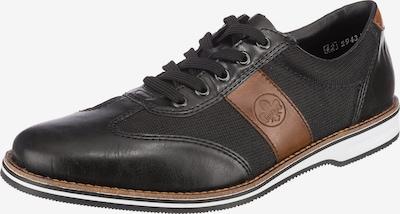 Pantofi cu șireturi RIEKER pe chamois / negru, Vizualizare produs