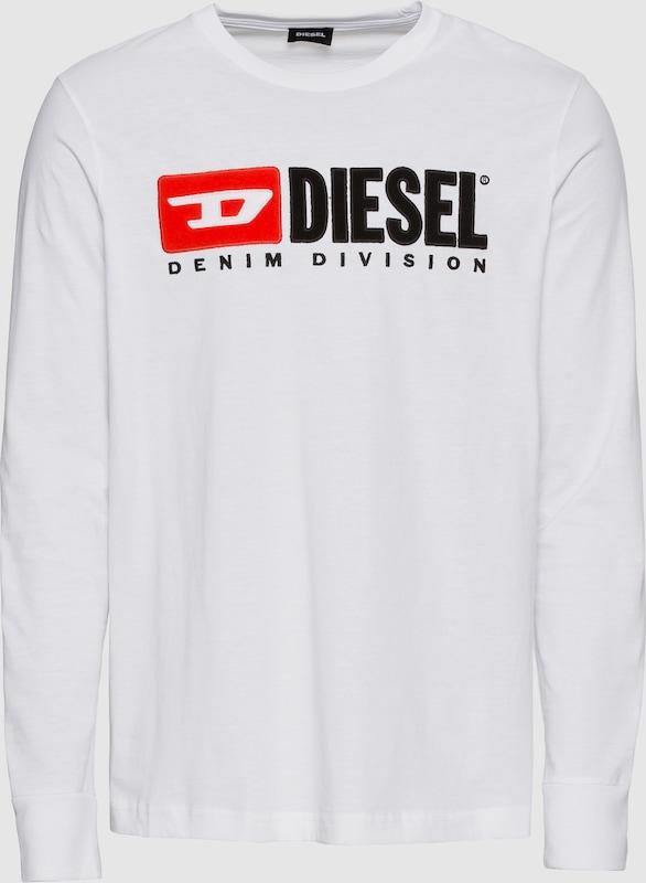 DIESEL Langarmshirt 'T-JUST-LS-DIVISION' in weiß  Neue Kleidung in dieser Saison