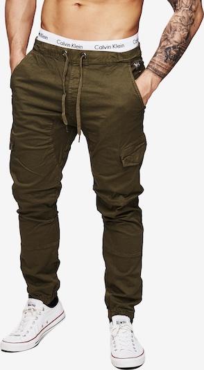 INDICODE JEANS Cargobroek 'Levi Cargo' in de kleur Kaki, Productweergave