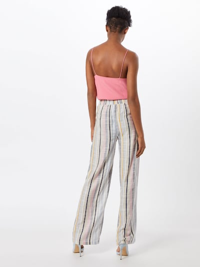 Boohoo Spodnie w kolorze beżowy / szary / różowy pudrowym: Widok od tyłu