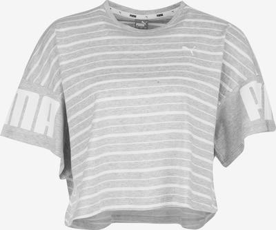 PUMA T-Shirt 'Rebel' in hellgrau / weiß, Produktansicht