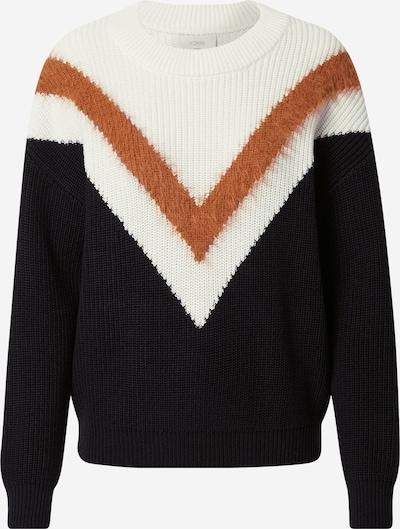 NÜMPH Pullover 'Nubirdie Merryn' in braun / schwarz / weiß, Produktansicht