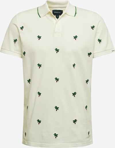 Tricou GANT pe verde / alb: Privire frontală