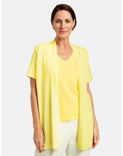 GERRY WEBER Strickjacke in gelb, Modelansicht