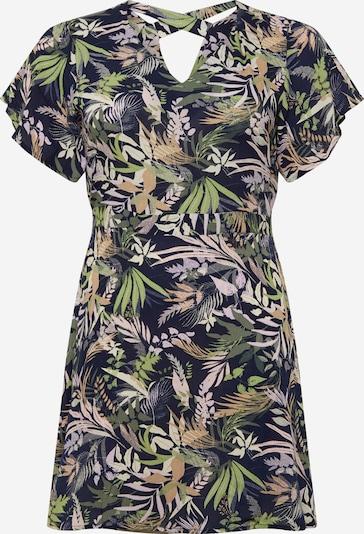 Vero Moda Curve Obleka | temno modra / oliva / majnica / mešane barve / staro roza barva, Prikaz izdelka