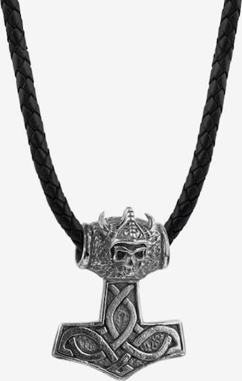KUZZOI Ketting 'Hammer' in de kleur Zwart / Zilver, Productweergave