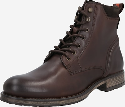 Marc O'Polo Stiefel 'Lace Up' in dunkelbraun: Frontalansicht