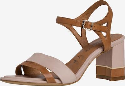 TAMARIS Sandalen met riem in de kleur Lichtbeige / Bruin, Productweergave