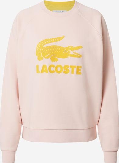 Bluză de molton LACOSTE pe galben / roz vechi, Vizualizare produs