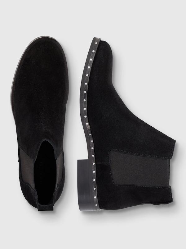Bianco eingefasste Stiefel Mit Nieten