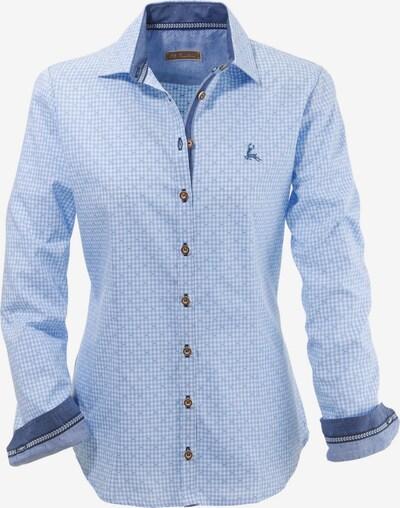 OS-TRACHTEN Trachtenbluse Damen im Karo-Design in hellblau, Produktansicht