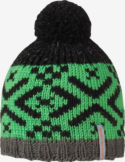 STÖHR Mütze 'ULANO' in grün / schwarz, Produktansicht