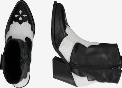 Bianco Boots 'Cuba' in de kleur Zwart / Natuurwit: Zijaanzicht