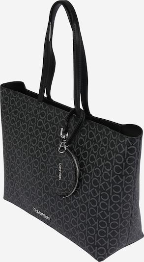 Calvin Klein Cabas 'Mono MD' en gris foncé / noir, Vue avec produit