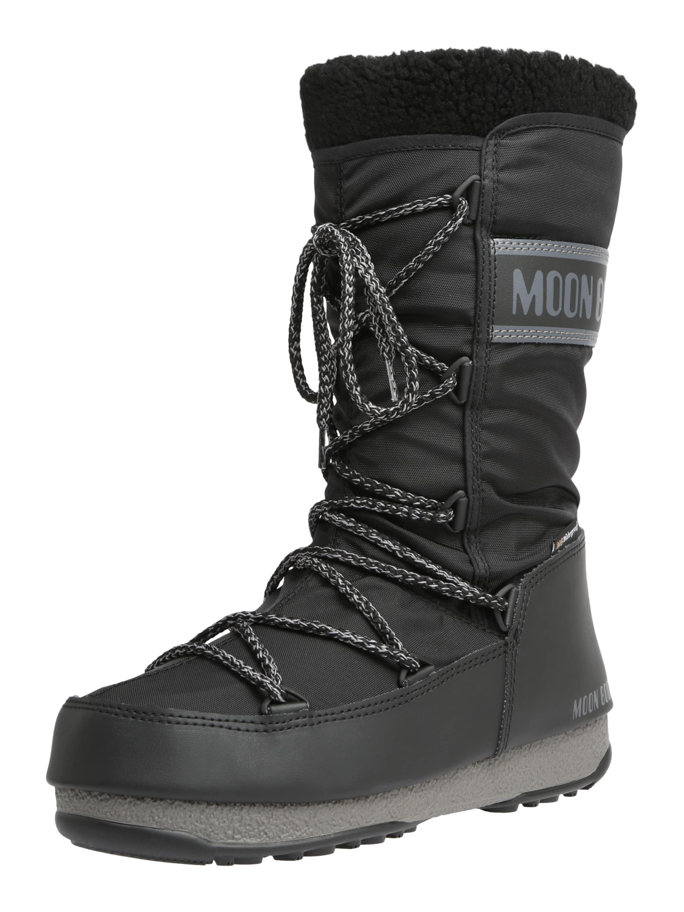 MOON Stiefel SnowStiefel 'MOON Stiefel MONACO WOOL WP' in schwarz