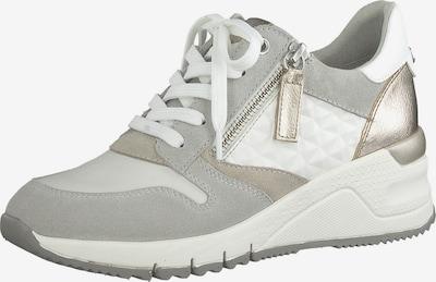 TAMARIS Sneakers laag in de kleur Lichtgrijs / Wit, Productweergave