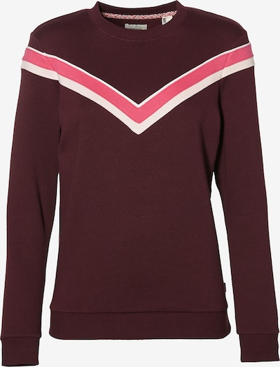O'NEILL Sweatshirt 'LW COLOUR BLOCK' in de kleur Pink / Bourgogne / Wit, Productweergave
