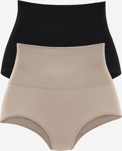 PETITE FLEUR Bodyforming-Taillenslips (2 Stück) in nude / schwarz, Produktansicht