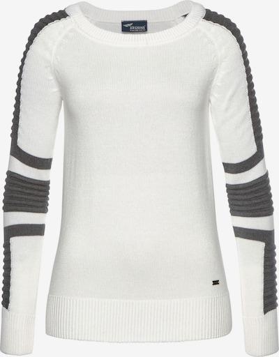 ARIZONA Pullover in dunkelgrau / weiß, Produktansicht