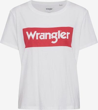 WRANGLER Shirt 'LOGO TEE' in rot / weiß, Produktansicht