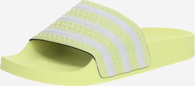 ADIDAS ORIGINALS Mule 'ADILETTE' en jaune / blanc, Vue avec produit