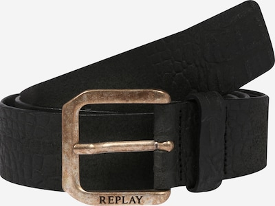 REPLAY Riem 'Leather Belt' in de kleur Zwart, Productweergave
