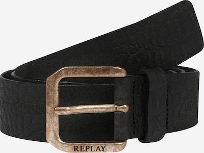 REPLAY Ceinture 'Leather Belt' en noir, Vue avec produit