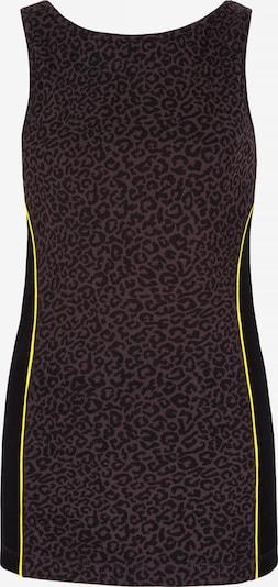 YOGISTAR.COM Boatneck-Top in mischfarben / schwarz, Produktansicht