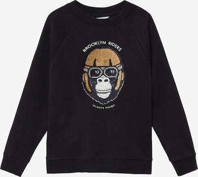 MANGO KIDS Sweatshirt ' GORI' in gold / schwarz / weiß, Produktansicht