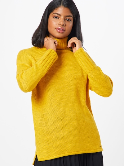BROADWAY NYC FASHION Pull-over 'SWEATER THECLA' en jaune, Vue avec modèle