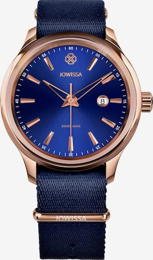 JOWISSA Quarzuhr 'Tiro' Swiss Men's Watch in blau / rosegold, Produktansicht