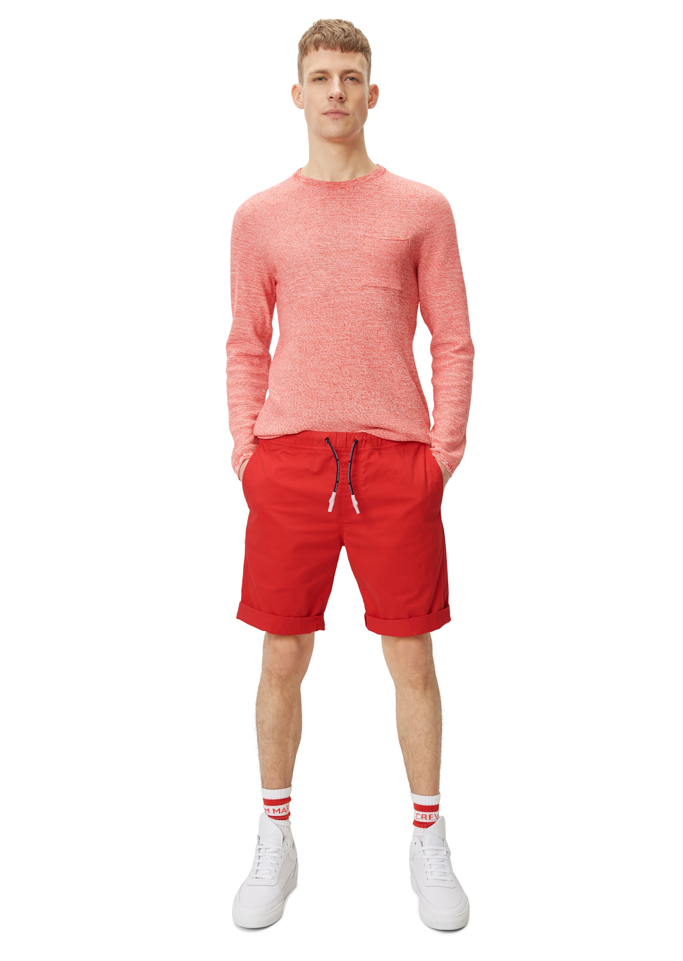 Marc In 'mik' Denim Shorts O'polo Rot PkXiZu