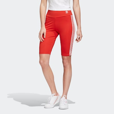 ADIDAS ORIGINALS Shorts in rot / weiß, Modelansicht