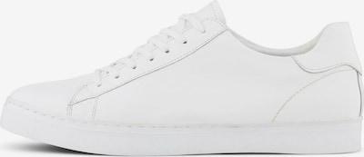 TOM TAILOR Shoes Schlichte Ledersneaker in weiß: Frontalansicht