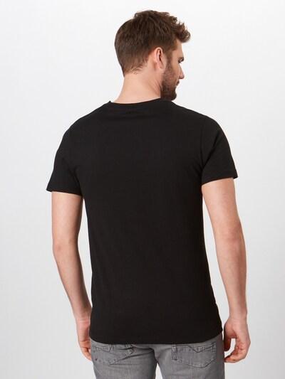 Mister Tee Shirt 'Dark Pray' in schwarz / weiß: Rückansicht