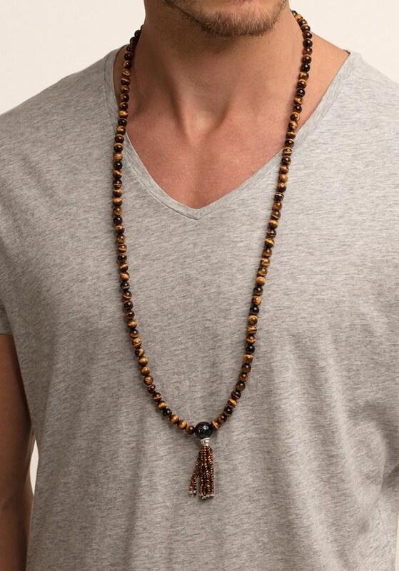 Thomas Sabo Kette mit Anhänger 'Power Necklace Braun, KE1675-806-2-L90'