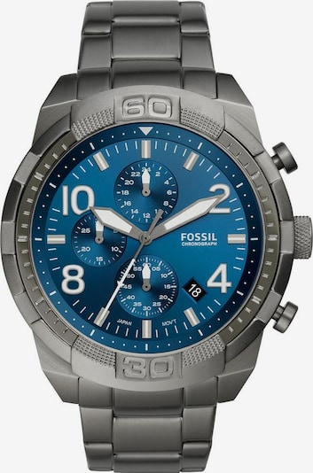 FOSSIL Uhr 'Bronson' in blau / dunkelgrau, Produktansicht