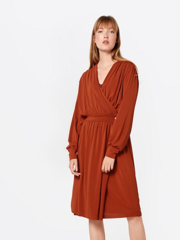 De Dress' Robe Cocktail Rouge Postyr En Rouille 'posklokkeblomst 7gvYbfy6