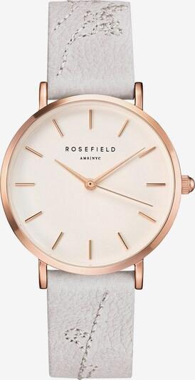 ROSEFIELD Uhr in rosegold / naturweiß, Produktansicht