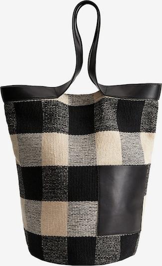 MANGO Tasche 'Raquel' in beige / schwarz, Produktansicht