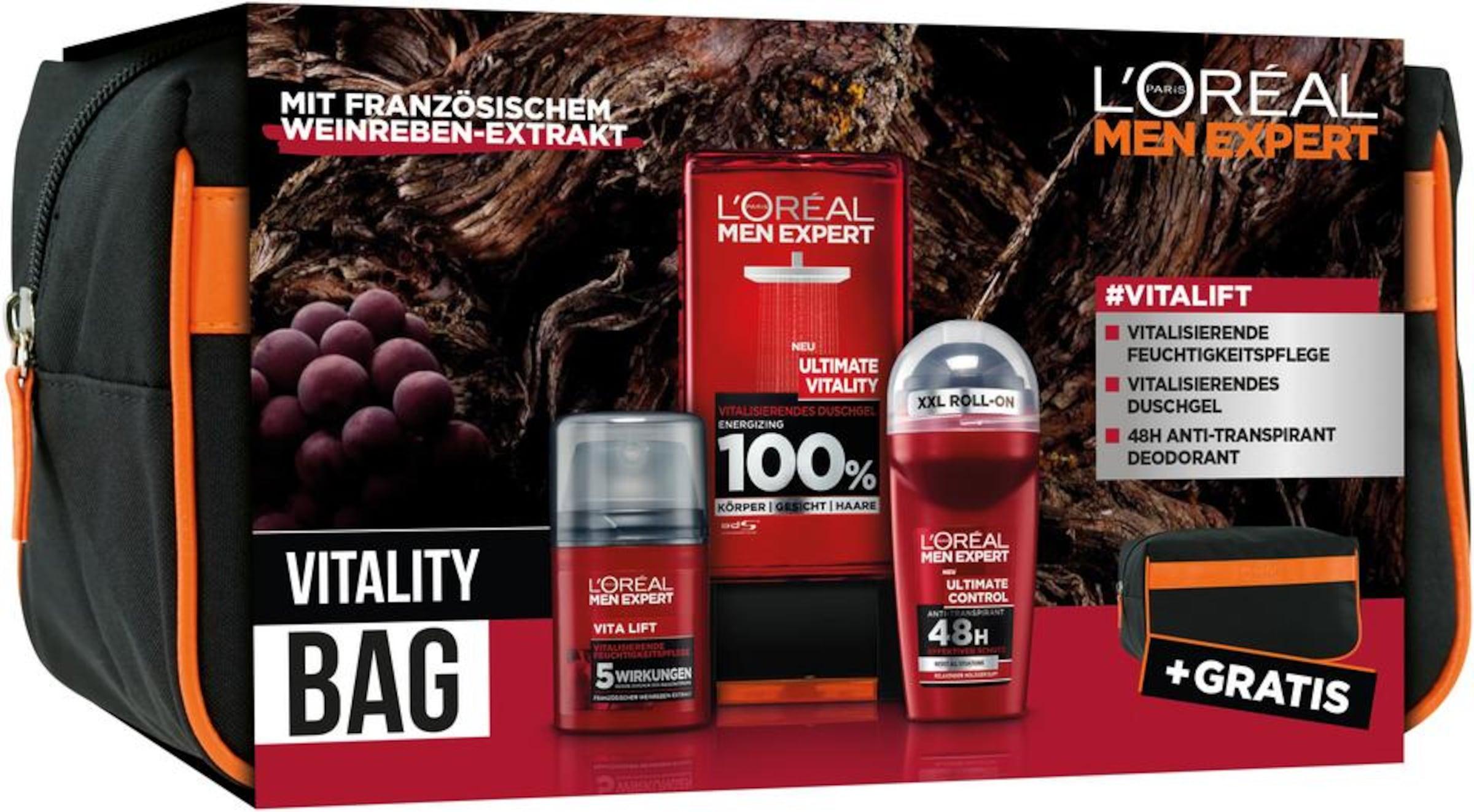 Schwarz Men Set Expert 'vitality' DunkelgrauFeuerrot Paris In L'oréal kOTiuPXZ