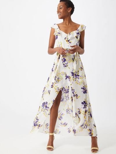 GUESS Kleid 'ISABELLA' in dunkellila / weiß: Frontalansicht