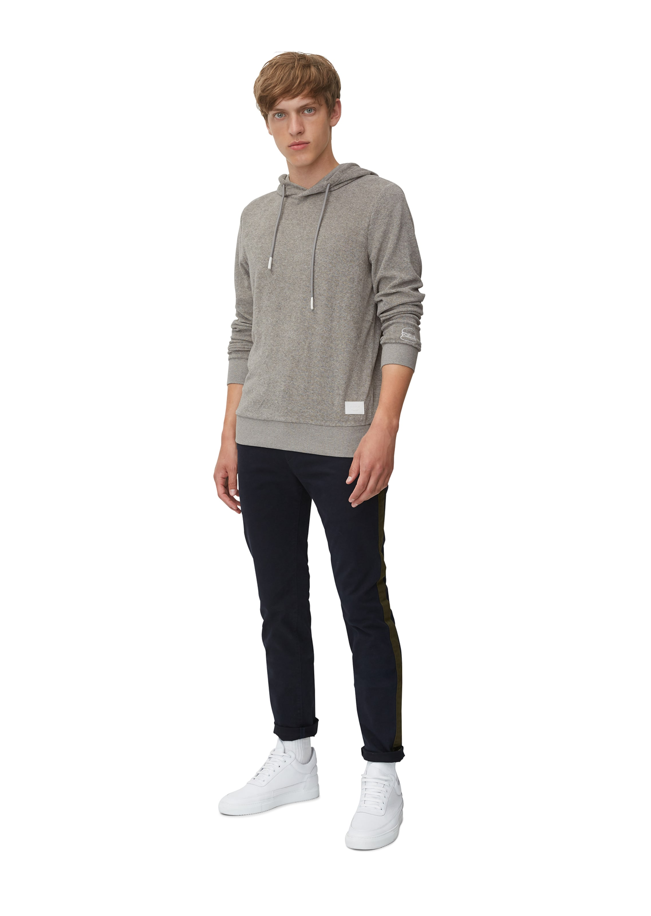 In Denim Hoodie O'polo Taupe Marc Yy7fgbv6