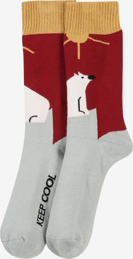 bleed clothing Socken 'Safe The Arctic Socks' in blau / gelb / rot, Produktansicht