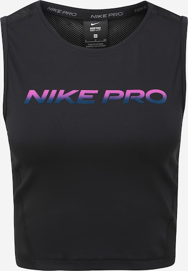 sötétkék / rózsaszín / fekete NIKE Sport top 'Pro', Termék nézet