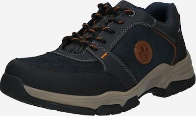 RIEKER Chaussure de sport à lacets en bleu marine / marron / noir: Vue de face