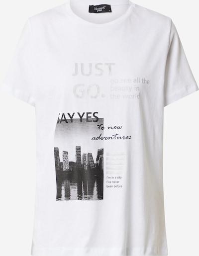 SISTERS POINT Shirt 'MAIA' in anthrazit / graumeliert / schwarz / weiß: Frontalansicht