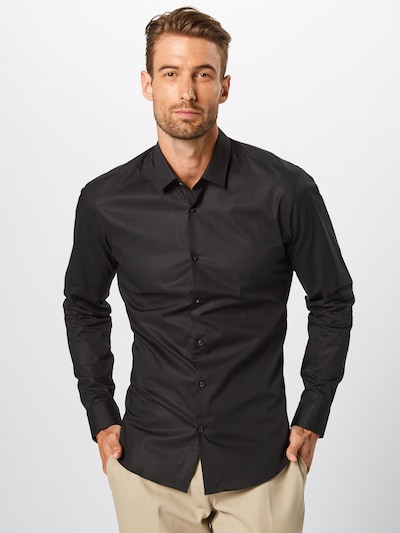 SCOTCH & SODA Chemise business '132837-58' en noir: Vue de face
